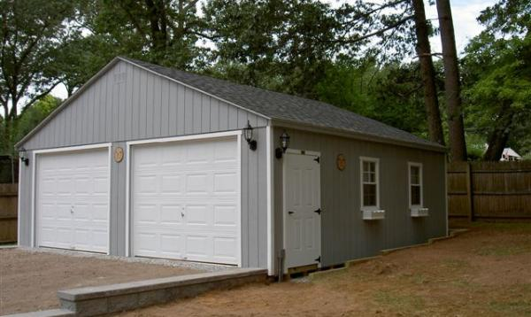 24' x 24' Keystone A-frame Garage (D-temp Siding)