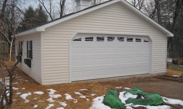24 x 24 Classic A Frame Garage with large carriage door