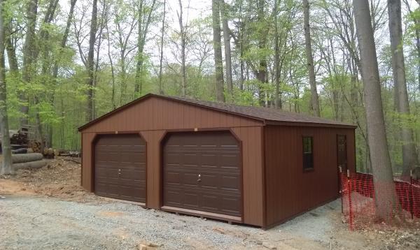 24x24 Keystone Modular Garage with A Frame Roof