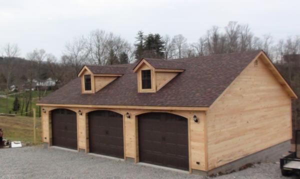 30' x 40' Classic Garage (Hortizontal Pine T & G Siding)