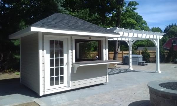 8' x 26' Pergola and concession stand combo