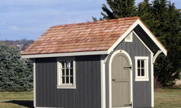 8' x 12' Premier Garden Shed with arched door