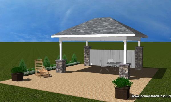 Avalon Pavilion Rendering - 14' x 16'