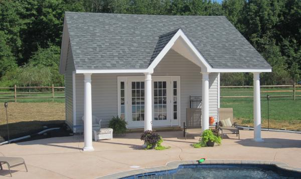24' x 20' Custom A Frame Pool House (Vinyl Siding)