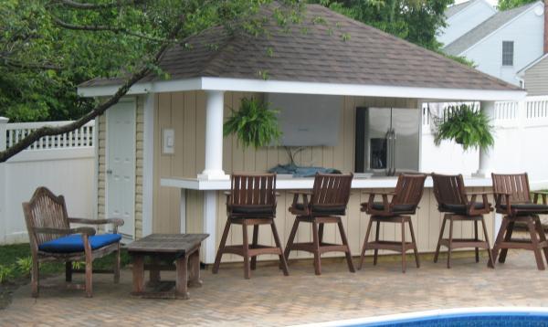 12' x 14' Siesta Pool Cabana (vinyl siding)