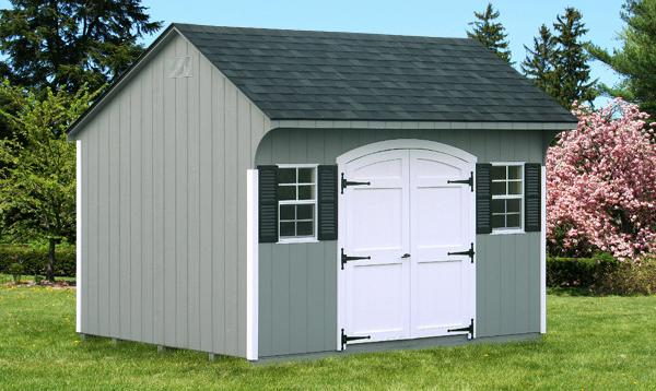 10' x 12' Keystone Quaker Shed (D-temp Siding)