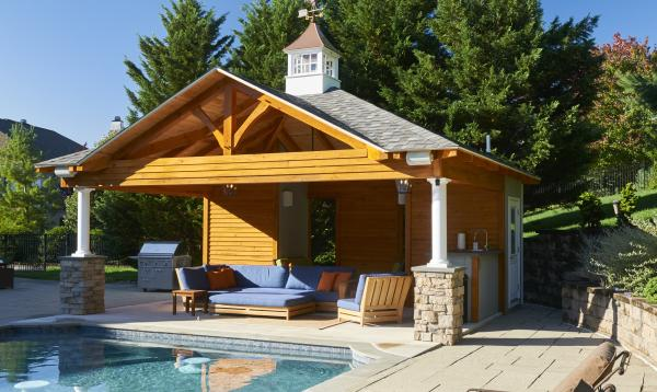 18x22 Custom Timberframe Avalon Pool House