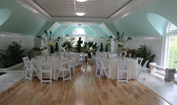 46' x 75' Custom Wedding Barn Interior