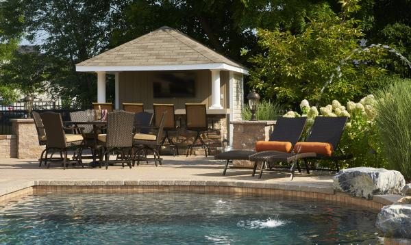 10' x 12'  Siesta Poolside Bar with Stone Veneer in Easton, PA
