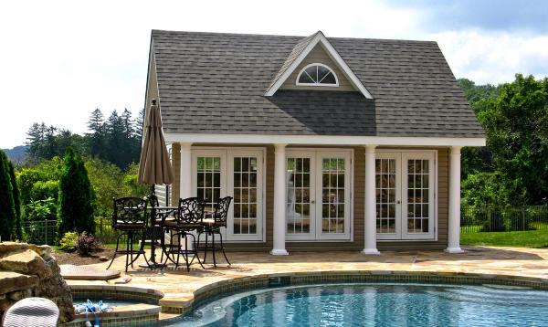 17 x 20 Heritage Liberty Pool House (vinyl siding)