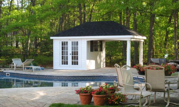12' x 18' Avalon Pool House (Hardie Plank Siding)