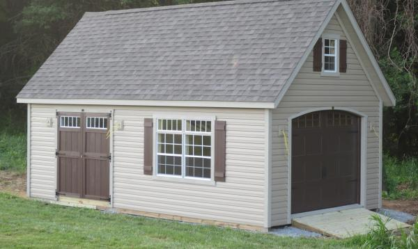 14' x 24' Liberty A Frame Garage (Vinyl Siding)