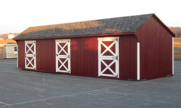 10' x 36' Quaker Horse Barn (D-Temp Siding)
