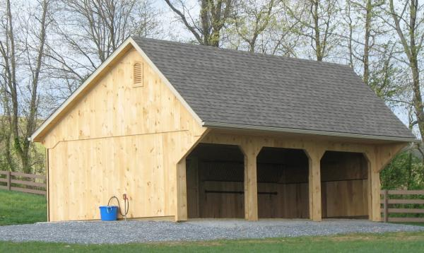 16' x 32' Liberty Quaker Run In Barn (Pine Siding)