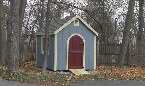 8' x 10' Laurel A-Frame Shed (D-Temp Siding)