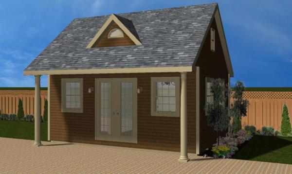 Heritage Pool House 3D Rendering