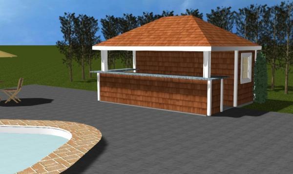 Siesta with Cedar Shakes 3D Rendering