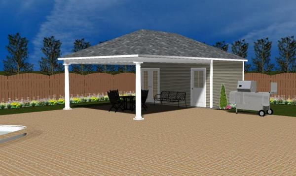 Avalon Pool House 3D Rendering