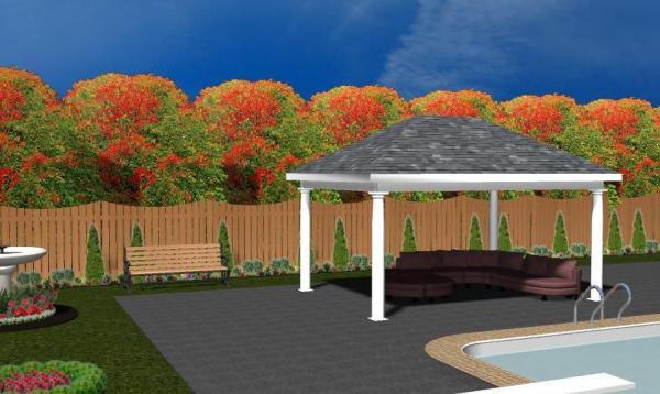 Vintage Pavilion 3D Rendering