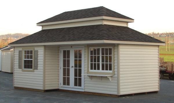Double Hop Roof 2 Story Custom Pool House