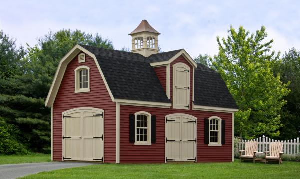 14' x 24' Liberty Dutch Barn Shed (Vinyl Siding)