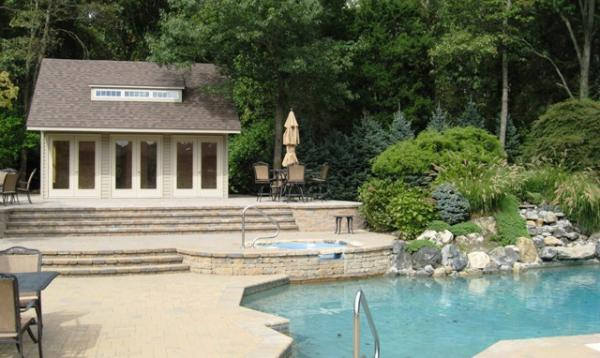 20 x 24 Heritage Liberty Pool House (vinyl siding)