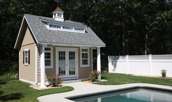 15 x 14 Heritage Liberty Pool House (D-temp siding)