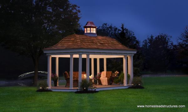 12' x 20' Custom Bell Shaped Pavilion - Belvedere