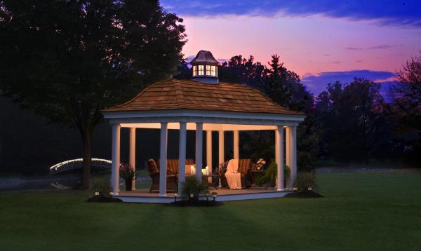 Belvedere Pavilion with Cedar Shake Roof