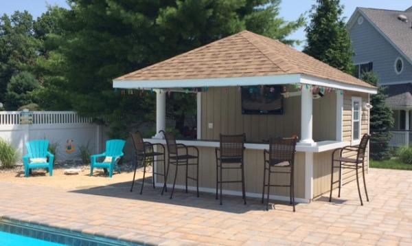 12' x 16' Siesta Poolside Bar (vinyl siding)