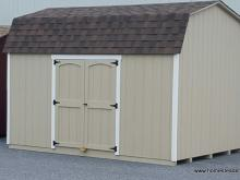 10' x 12' Tan & Brown Amish Barn Shed