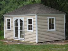 10' x 14' Laurel Hip Roof Shed (vinyl siding)