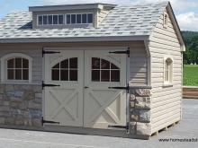 10' x 14' Carriage House (Vinyl Siding & 2 Transom Dormer)