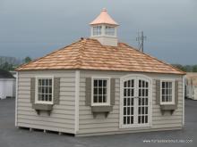 10' x 18' Laurel Hip Roof Shed (vinyl siding)