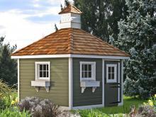 10' x 10' Classic Hip Garden Shed (german pine siding)