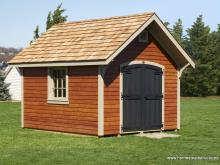 10' x 12' Premier Garden Shed Mahogany Stained LP Lap Siding
