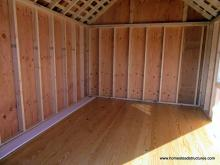 Interior of 10' x 12' Premier Garden Shed with double window