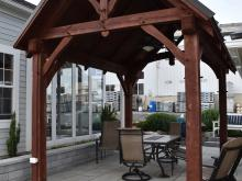 10' x 14' Timber Frame Pavilion Display in New Holland, PA