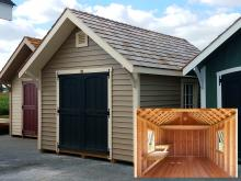 10 x 16 Premier Garden Shed with interior benches and loft