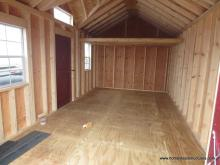 Interior of a 10x18 Laurel Chalet/Victorian Shed in Massachusetts
