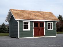 10' x 18' Premier Garden Shed with lap siding & 4-lite Craftsman door