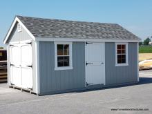 10' x 18' Laurel A-Frame Shed with double and single door