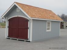 10' x 20' a frame garden shed with potting bench
