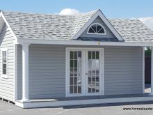 12' x 18' Heritage Pool House - Classic Series with dormer