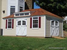 12' x 20' Laurel Hip Roof Shed (vinyl siding)