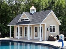 15' x 24' Heritage Liberty Pool House with vinyl shake siding