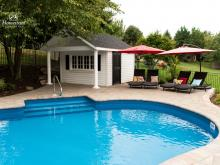 12' x 16' Classic A-Frame Pool Shed with Pavilion
