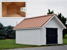 12' x 16' Premier Garden Shed with standing seam metal roof