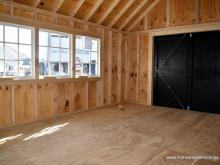 Interior of 12x16 Premier Garden Shed with metal roof in Basking Ridge, NJ
