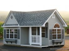 12' x 16' Classic Victorian Shed with Porch (vinyl siding)